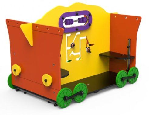 Vagón sin techo lúdico