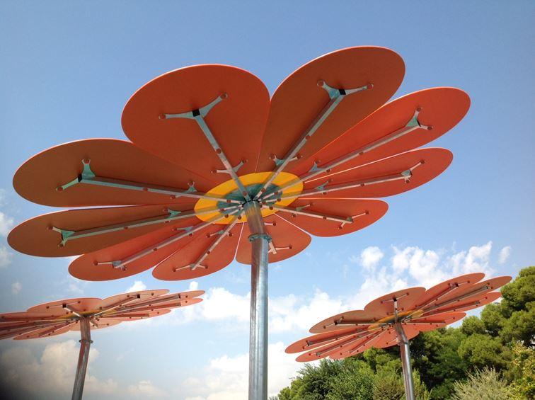 Flor Gigante para generar sombra en parques infantiles