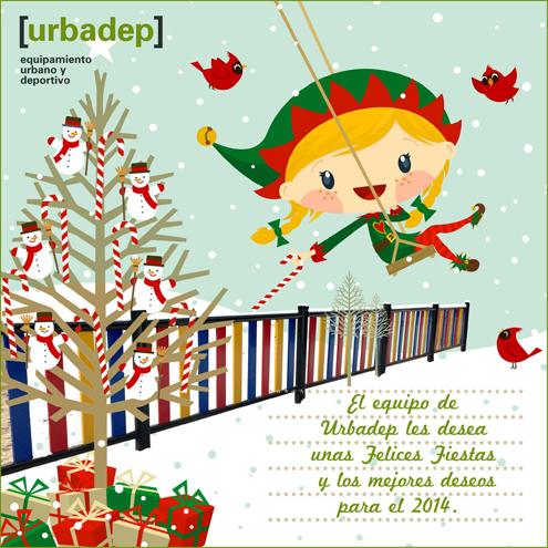 El Equipo de Urbadep les desea Felices Fiestas y nuestros mejores deseos para 2014.