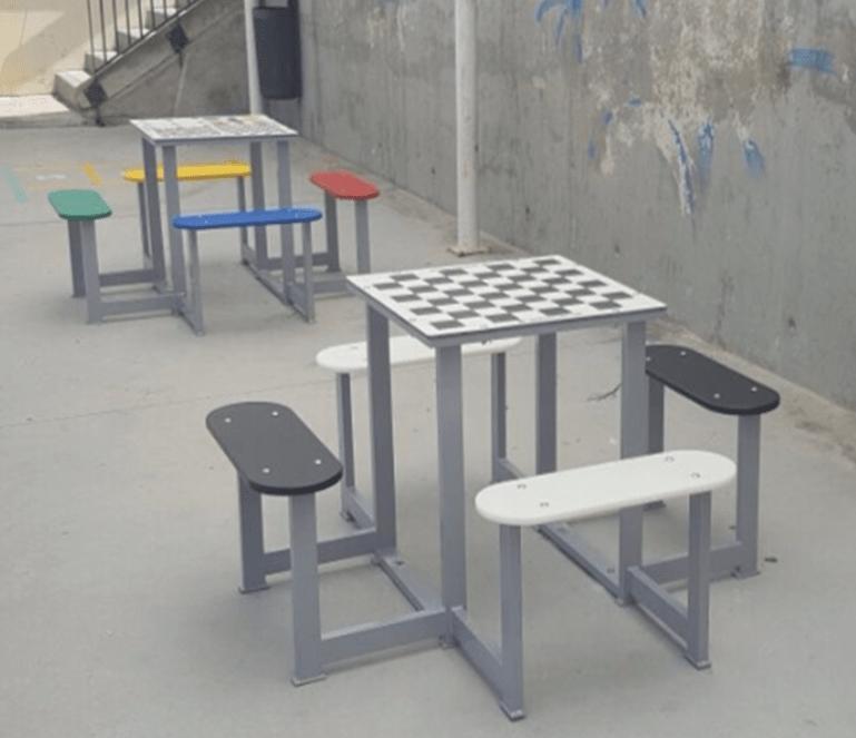 Mesas de Ajedrez Antivandálicas para Parques Públicos y Colegios.