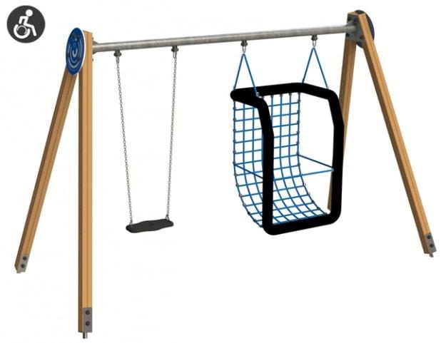 Columpios Inclusivos para parques infantiles