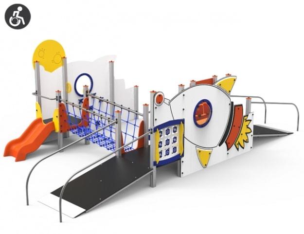 Parque Infantil adaptado para silla de ruedas Cohete