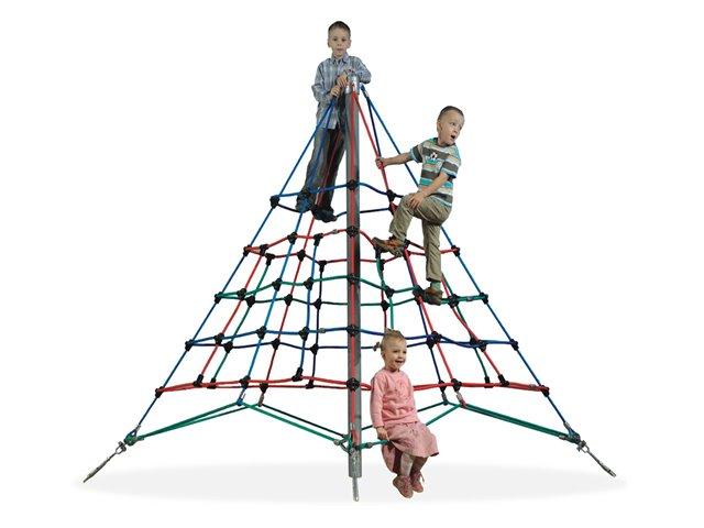 Trepa pirámide de cuerdas 2,5 metros