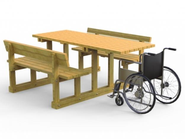 Mesas Madera Accesibles para Sillas de ruedas